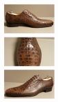 Schoen Grège bruin croco
